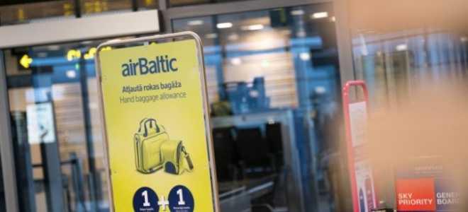 AirBaltic turpmāk piedāvās piemaksāt par smagāku rokas bagāžu