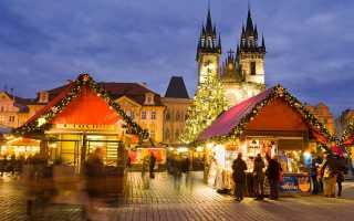 Ziemassvētku gadatirgu grafiks Prāgā 2018. gadā